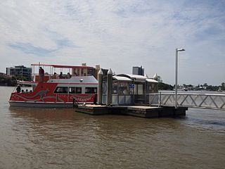 Dockside ferry wharf