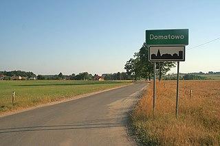 Domatowo Village in Pomeranian Voivodeship, Poland