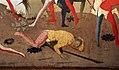 Domenico di michelino (attr.), storie dei greci e delle amazzoni con il ratto di antiope da parte di teseo, 1440-50 ca. 05 soldato ferito.jpg