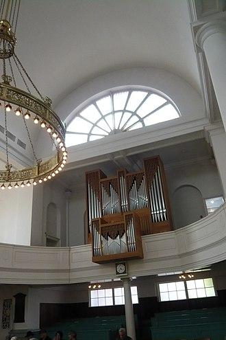 Doopsgezinde kerk, Haarlem - Image: Doopsgezinde kerk orgel RM19206