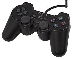 the ps2's controller, the dualshock 2, had the same form factor as the  playstation dualshock