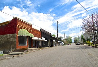 Ducktown, Tennessee - Buildings along Main Street in Ducktown