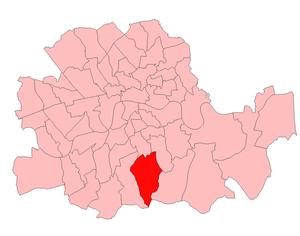 Dulwich (UK Parliament constituency) - Dulwich in London 1918-49