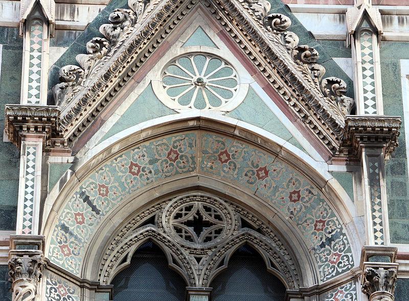 File duomo di firenze medaglioni intarsiati in marmi nei timpani delle finestre sui fianchi 15 - Finestre firenze ...