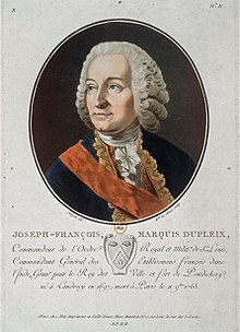Print of Dupleix, governor of French India from 1742 to 1754