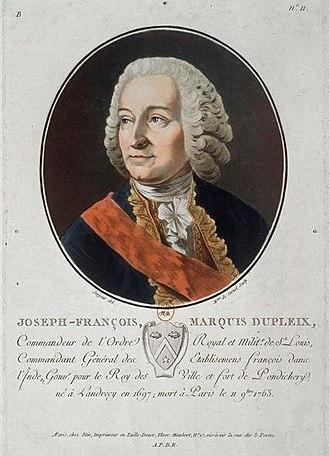 Joseph François Dupleix - Image: Dupleix Jean Francois estampe