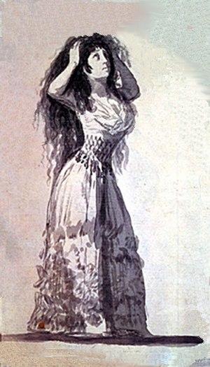 María Cayetana de Silva, 13th Duchess of Alba - Image: Duquesa de Alba peinandose