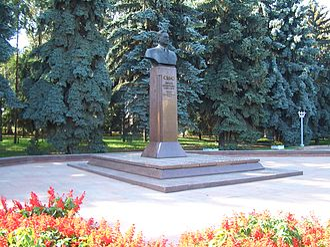 Dinmukhamed Kunaev - Kunaev Monument in Almaty