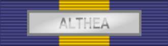 International military decoration authorized by the US military - Image: ESDP Medal ALTHEA ribbon bar