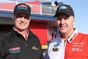 Wood Brothers Racing - Len and Eddie Wood at Las Vegas Motor Speedway in 2015