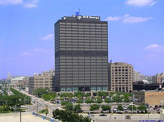 DTE Energy Headquarters - Image: Edison Plaza JK