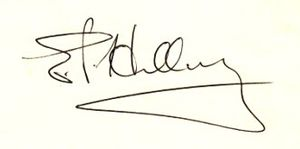 English: Edmund Hillary's signature