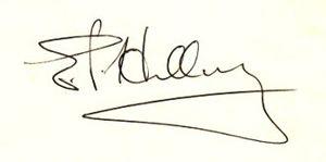 English: Edmund Hillary's signature