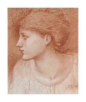The Golden Stairs - Image: Edward Burne Jones Study of the Head of a Girl for the Golden Stairs