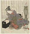 Een geisha leunt op de doos van haar shamisen-Rijksmuseum RP-P-1956-564.jpeg