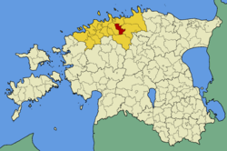 Raasiku Parish within Harju County.