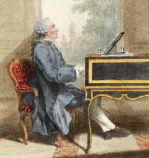 Egidio Duni - Egidio Duni at his piano, circa 1760