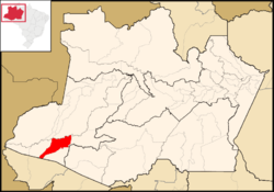 Location of Eirunepé