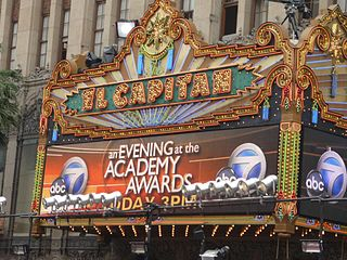 El Capitan Theatre building at 6838 Hollywood Boulevard in California, USA