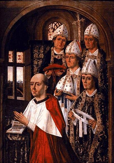El Cardedal Mendoza, rodeado de obispos