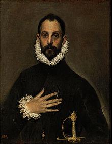 Эль Греко. «Портрет кабальеро с рукой на груди», ок. 1580