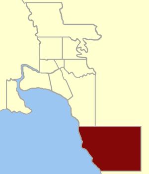 Electoral district of Brighton - Image: Electoral district of Brighton 1859