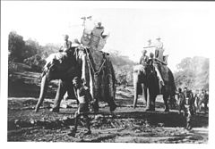 Elephant procession to Sanchi Tope in Sanchi, Madhya Pradesh.jpg
