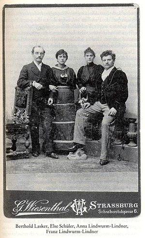 Berthold Lasker - Berthold Lasker, Else Lasker-Schüler, Anna Lindwurm-Lindner, Franz Lindwurm-Lindner around 1900