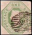 Embossedgreenshilling1847scott5used.jpg