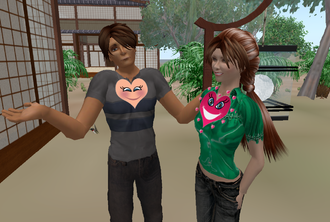 Affective haptics - EmoHeart object on the avatars' chest vividly and expressively represents the communicated emotions