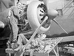 Engine maintenance on Wellington RAF Feltwell 1940 IWM CH 513.jpg
