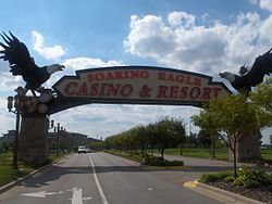 Entrance sign for Soaring Eagle Casino & Resort.jpg