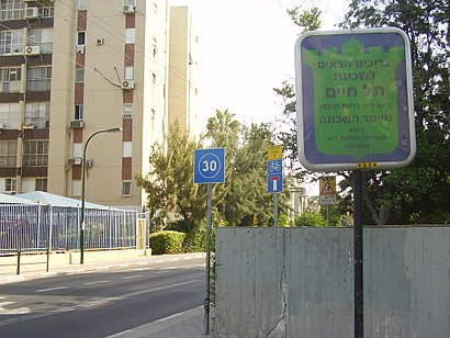 How to get to תל חיים with public transit - About the place