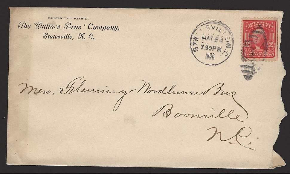 Envelope - Boonville Address-000