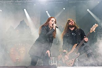 Epica (band) - Simons and Van der Loo during The Ultimate Enigma Tour