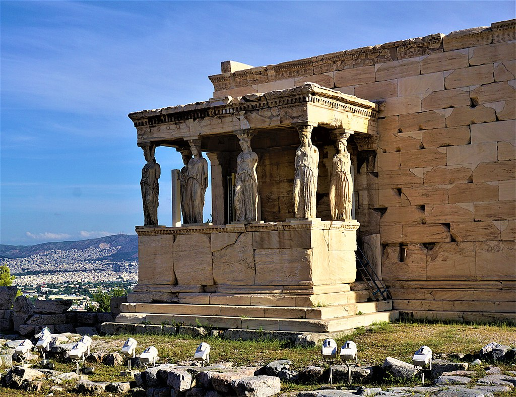 Erechtheion, Athens - Porch of the Caryatids
