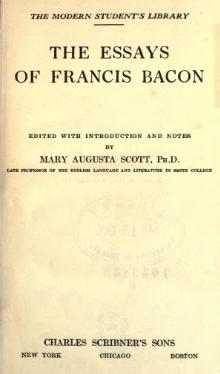 Essays of Francis Bacon 1908 Scott.djvu