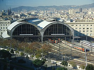 Barcelona França railway station - Aerial view