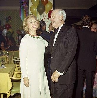 Estée Lauder (businesswoman) - Lauder with Algur H. Meadows in 1972.