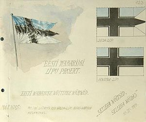 Nordic identity in Estonia - Estonian cross flag proposal from 1919