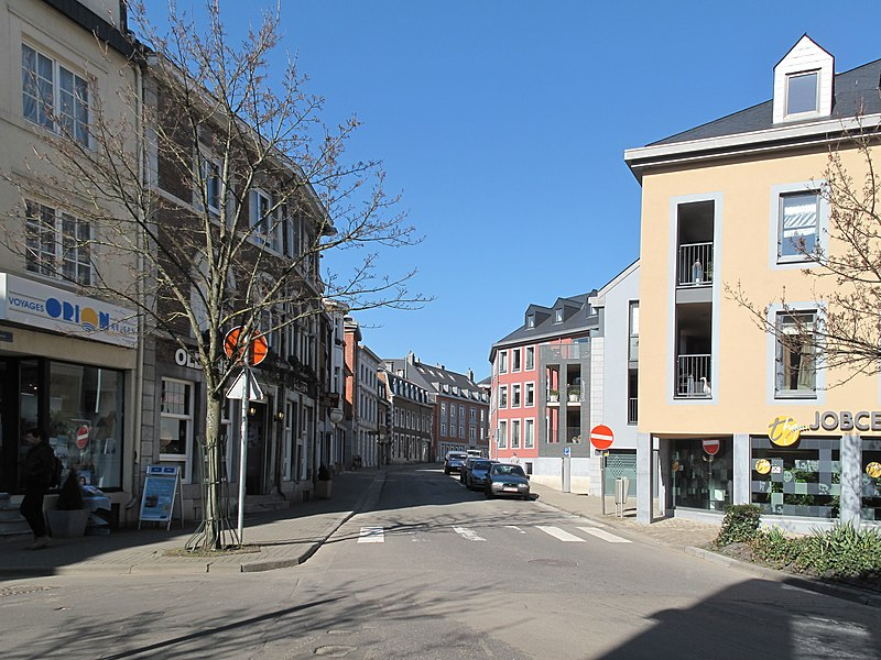 Eupen, view to a street
