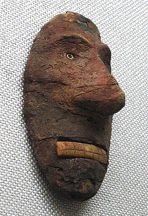Lop Nur - Europoid Mask, from Xiaohe Tombs complex near Lop Nur, China, 2000-1000 BCE