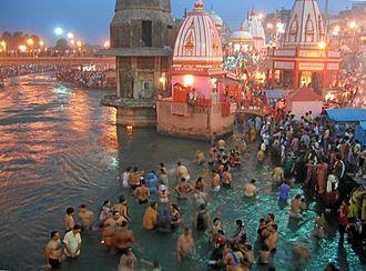 Kumbh Mela - Kumbh Mela at Haridwar.