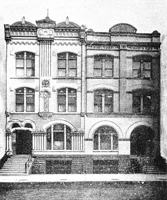 Clam juice - Exterior of the Everleigh Club, circa 1911