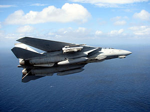 VFA-213 - VF-213 F-14D carrying a LANTIRN pod