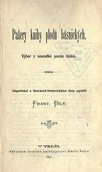 František Bílý: Patery knihy plodů básnických