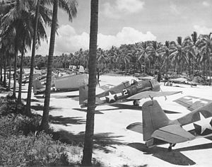 F6F-3 Hellcats of VF-40 at Espiritu Santo 1944