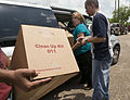 FEMA - 37416 - Clean up kit box and residents in Texas.jpg