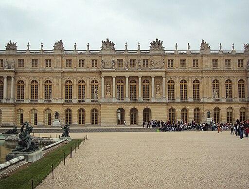 Facade ouest du chateau de Versailles 1