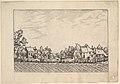 Farms, ploughed field in the foreground from Praediorum villarum et rusticarum casularum icones elenoantissimae ad vivum in apre deformatae MET DP825671.jpg
